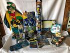 Big lot of Misc Batman items - stickers, tattoos, party supplies, kites, etc