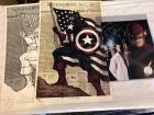Signed Captain America Print and sketch, Signed Flash Photo