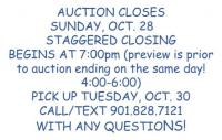 Welcome to Kelley's Attic Online Auction - Ends Sunday, October 28, beginning at 7:00pm