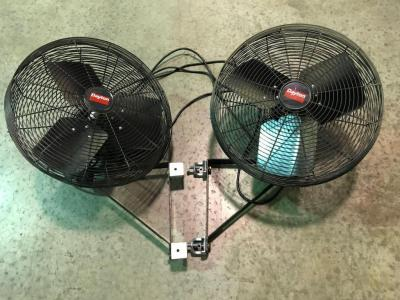 "Pair of 20"" Diameter Daytona Wall Fans"