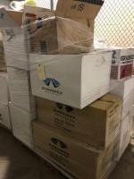 Pallet of Safety Equipment Including Helmets, Earmuffs, and more