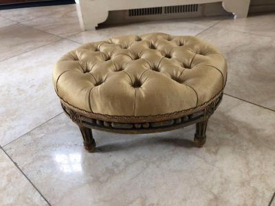 Small Louis XI oval foot stool