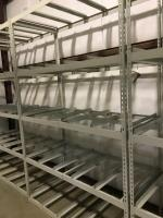One Unit of Metal Shelving