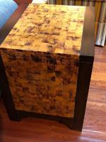 Fabulous wood and painted end table with storage