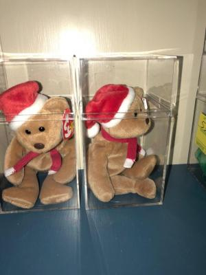 "Two 1997 ""Teddy"" Style 42000 Beanie Babies Collection"