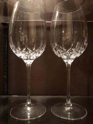 Pair of Waterford Lismore Essence Red Wine Stems