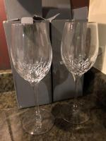 Pair of Waterford Crystal Lismore Essence White Wine Stems