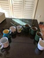 Coffee cup assortment.