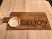 New with tags wood cheese board