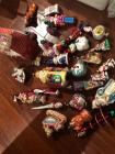 Collection of colorful glass ornaments some are Radko