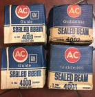 AC Sealed Beam headlights - 4 total NOS