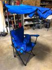 Folding chair with Canopy and storage bag VERY CLEAN