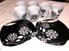 Oleg Cassini Black/White Mug & Plate Set - nice!!