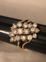 14 k gold and diamond ring 2 ct total weight purchase price $5275